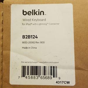 Belkin wired iPad key board